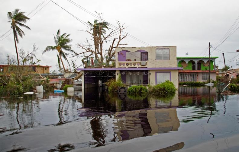 Community flooded