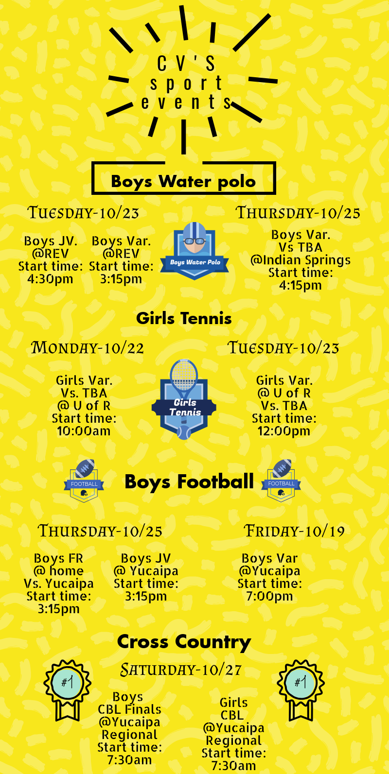 cv sports events 102218